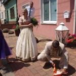 svatební zametání